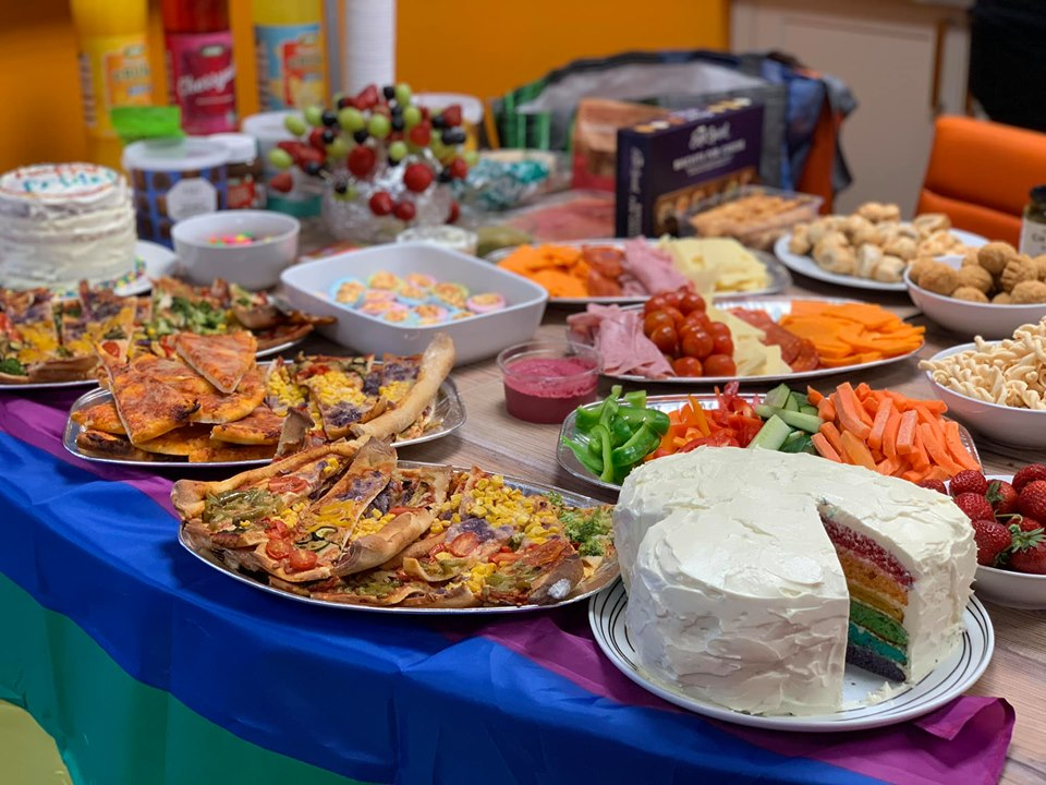 Fizzbox and The Stag Company PrIde themed buffet