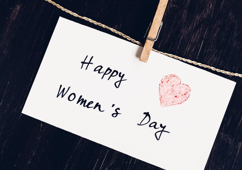 Happy Women's Day note